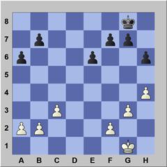 Een pion meerderheid bij schaken